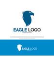 eagle bird logo design vector image vector image