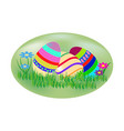 easter eggs set holiday background modern vector image
