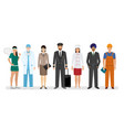 employee and workers characters with chef vector image vector image