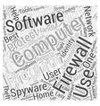 Finding The Right Firewall Computer Software Word vector image vector image