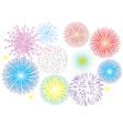 fireworks white vector image vector image