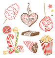 Funfair candy sweets vector image