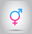 gender equal icon on isolated background business vector image