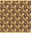 golden iron gearwheels technology backdrop vector image vector image