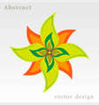 green and orange flower vector image