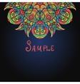 Half of mandala template for menu greeting card vector image vector image