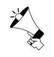hand holding megaphone advertising vector image