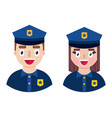 happy police officers vector image vector image