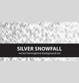 herringbone pattern set silver snowfall seamless vector image vector image