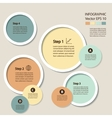 Infographics Process chart module vector image
