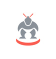 Japanese Sumo Wrestler Front vector image vector image