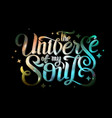 lettering typography design on space background vector image