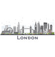 london england skyline with gray buildings vector image vector image