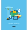 Modern flat design application development concept vector image