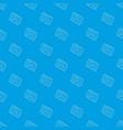 navigator pattern seamless blue vector image vector image