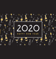 new year 2020 banner pattern with champagne vector image vector image