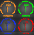 Palm icon Fashionable modern style In the orange vector image