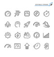 performance line icons editable stroke vector image vector image