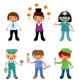Professional occupations 4 vector image vector image