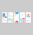set hand-painted watercolor card layouts vector image
