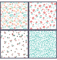 Set of floral seamles patterns vector image