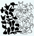 Set of many hand in a different phases vector image vector image