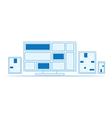 set outline design electronics vector image vector image