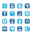 Spa and relax objects icons vector image