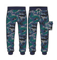 sport pants with camouflage fabric design vector image
