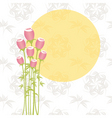 springtime pink rose flowers on seamless pattern b vector image vector image