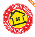Stamp sticker house collection - - EPS10 vector image
