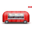vintage food truck trailer vector image vector image