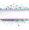 white festive background with colorful confetti vector image vector image