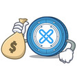 with money bag gxshares coin character cartoon vector image vector image