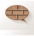 wood shelf speech bubble creative design vector image vector image