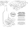 Hand drawn wine label vector image