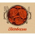 BBQ party Barbecue template of menu design vector image