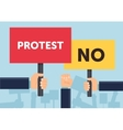Hand holding protest sign flat vector image