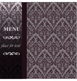 Menu Vintage background with ornaments vector image