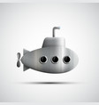 Gray metal submarine with portholes vector image
