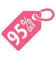 90 percent off tag vector image