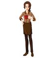 A female barista