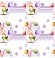 A seamless design with a bunny and Easter eggs vector image vector image