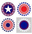 american symbols icon set vector image vector image
