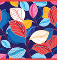 autumn seamless color pattern vector image vector image