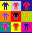 baby clothes sign pop-art style colorful vector image vector image
