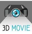 Background with 3d movie projector vector image vector image