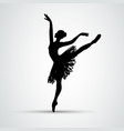 ballet girl dancing woman silhouette eps10 vector image vector image