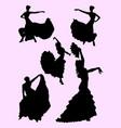 beautiful woman dancing flamenco vector image vector image