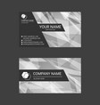 black and white abstract business card templates vector image